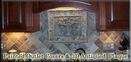 Antiqued 3D Plaque & Painted Outlet Covers